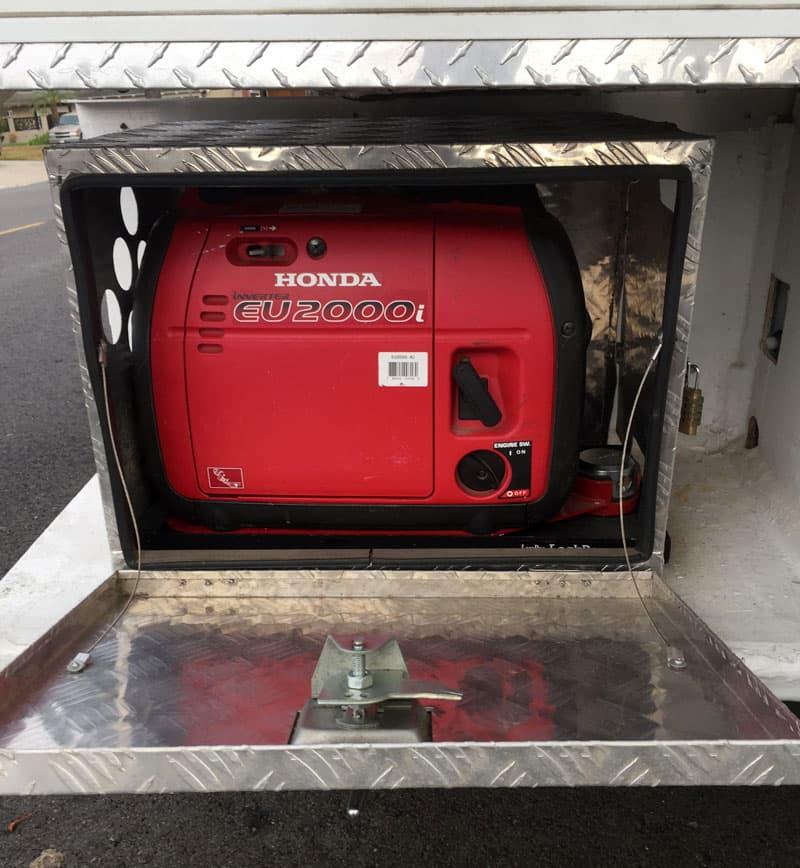 Fiberglass Bumper Generator Lockable