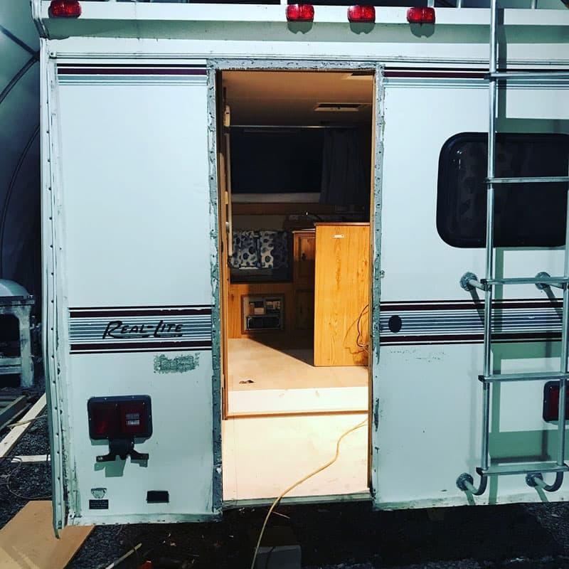 Finished Floor In Real Lite Camper