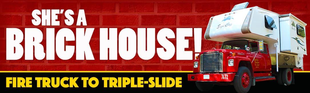 Fire Truck Triple Slide Truck Camper