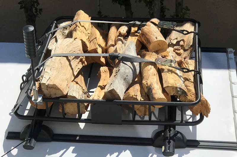 Firewood roof rack