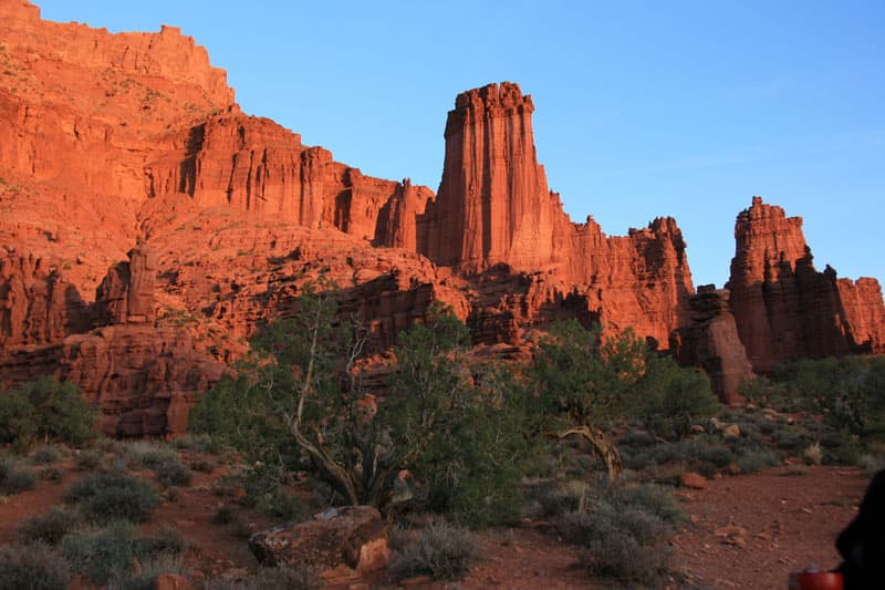 Fisher-Towers-sunset