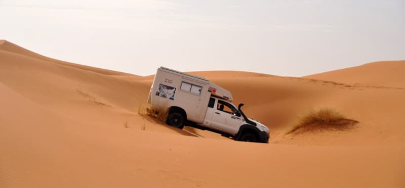 Fixed Cell Camper desert