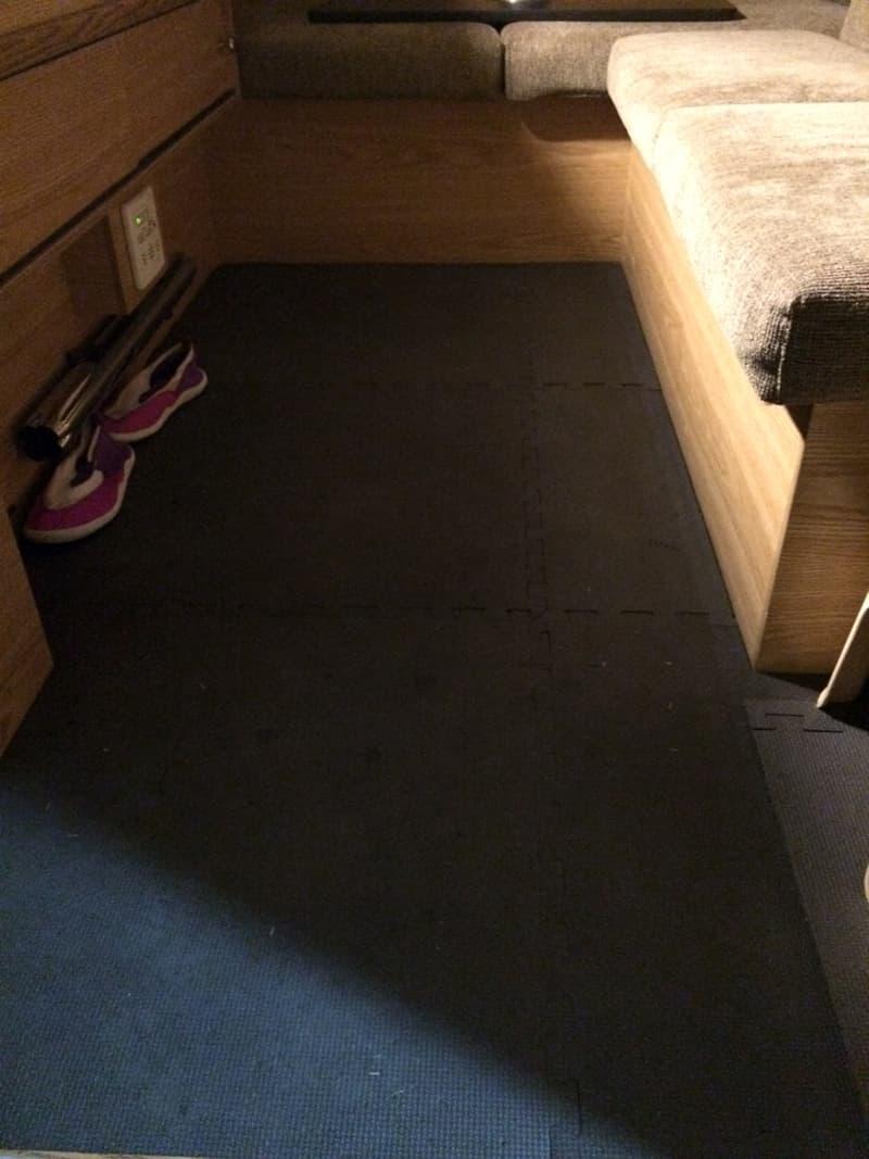 Foam camper floor