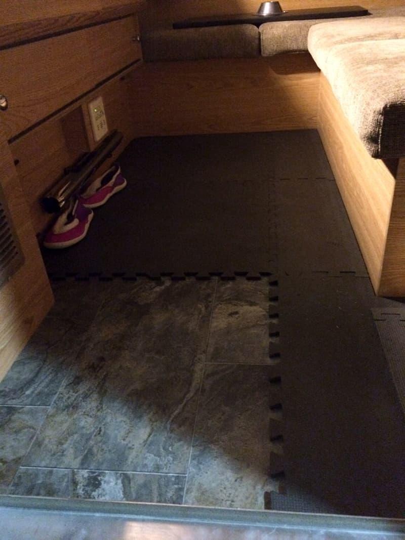 Installing a foam camper floor