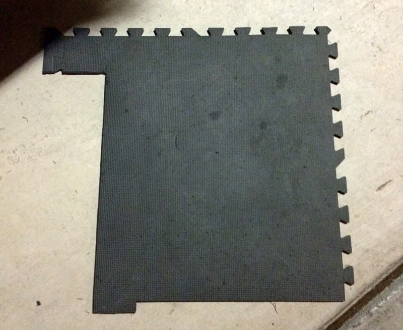 Foam camper floor puzzle piece
