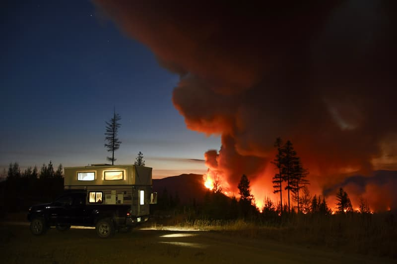 Forest Fire In Moyie British Columbia