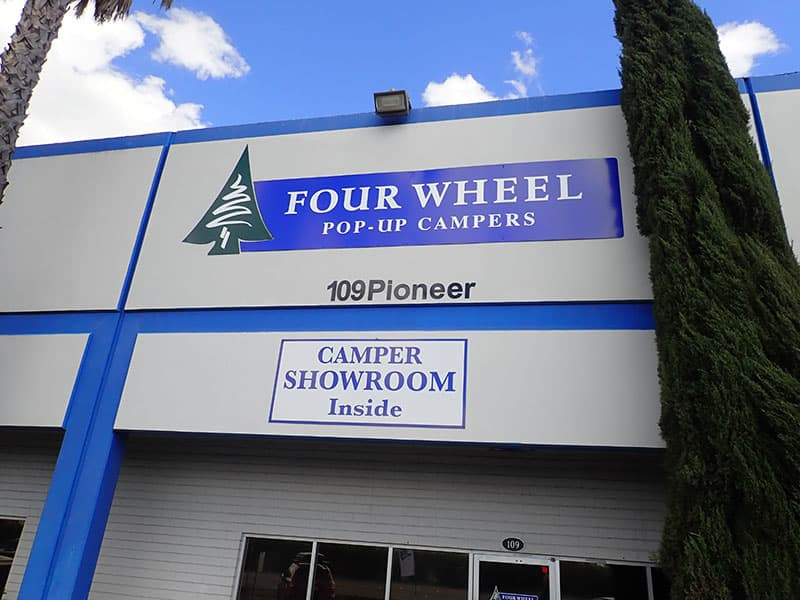 Four Wheel Camper Factory Signs