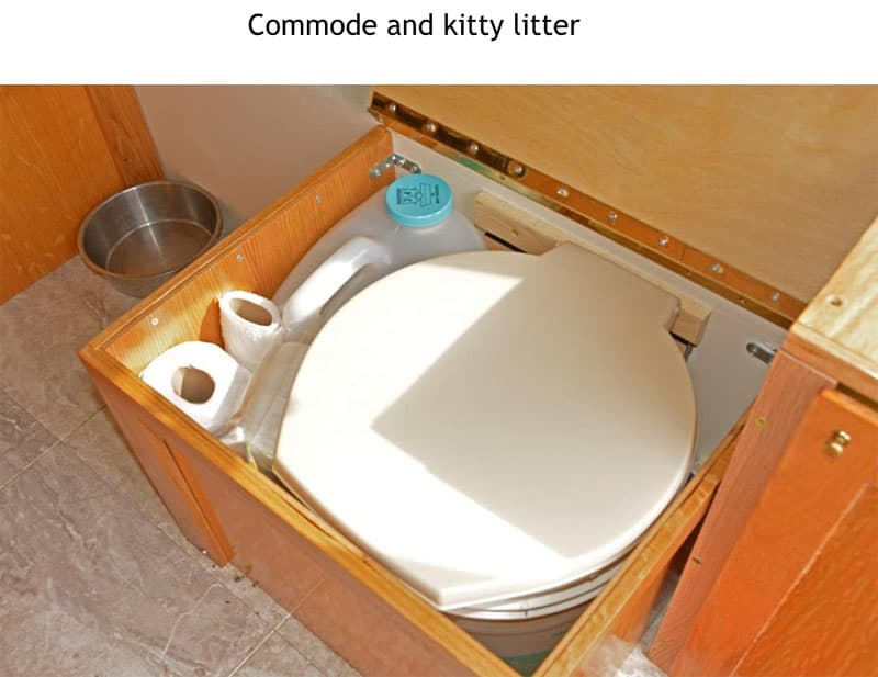 Four Wheel Shell commode
