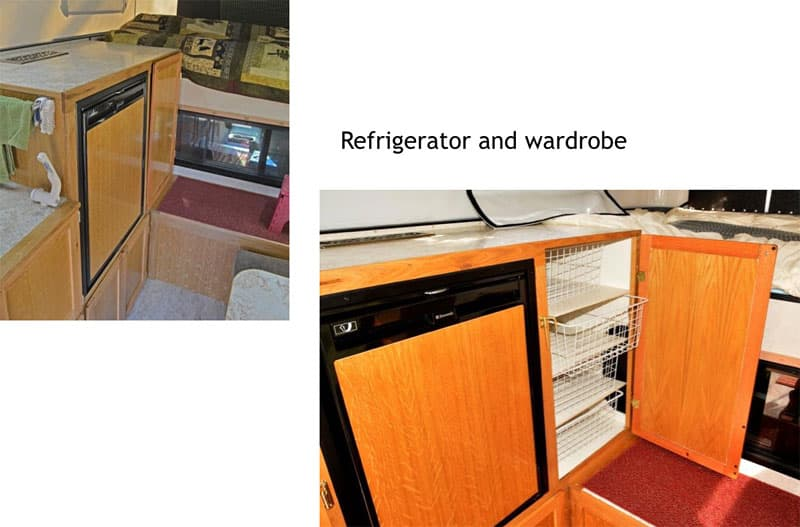 Four Wheel Shell refrigerator and wardrobe