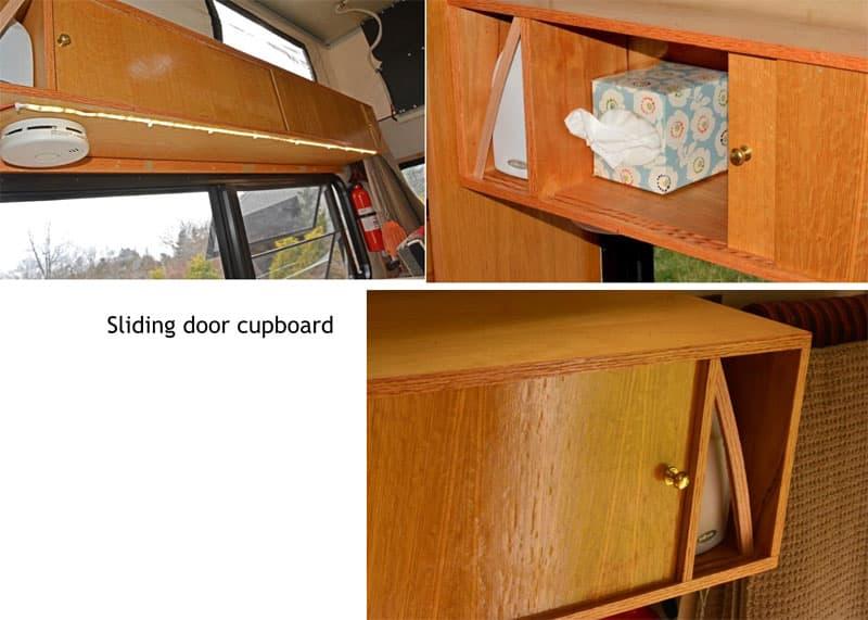 Four Wheel Shell sliding cupboard