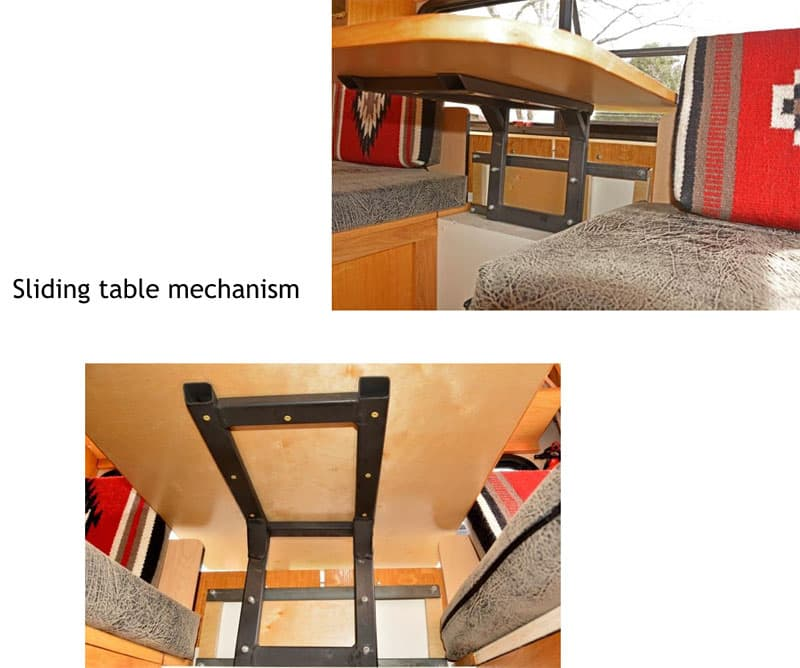 Four Wheel Shell sliding table