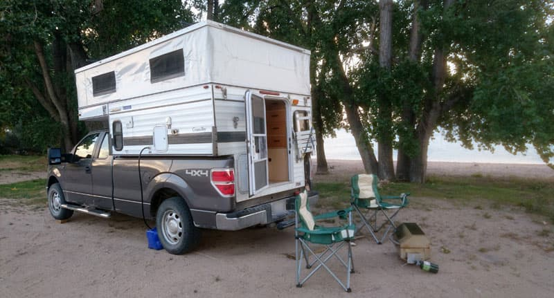 Four Wheel Camper With Camp Chairs