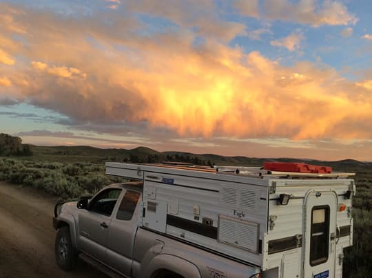 Full-Time-Four-Wheel-Camper-raining-fire-sky-colorado