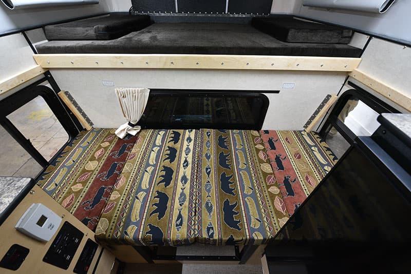 Four Wheel Hawk Dinette Bed Made