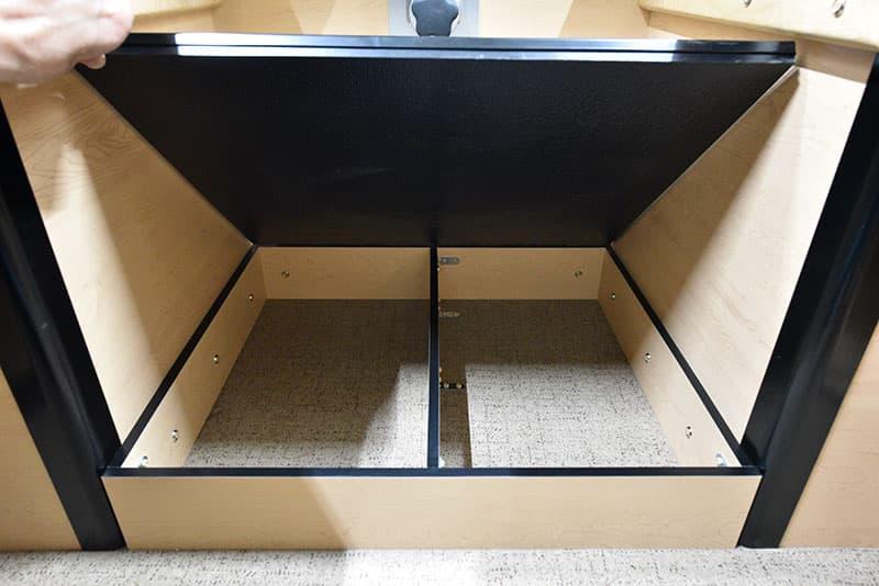 Four Wheel Hawk Dinette Foot Area Cabinet