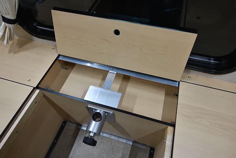 Four Wheel Hawk Dinette Under Seat Center