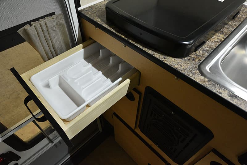 Four Wheel Hawk Kitchen Silverwear Drawer