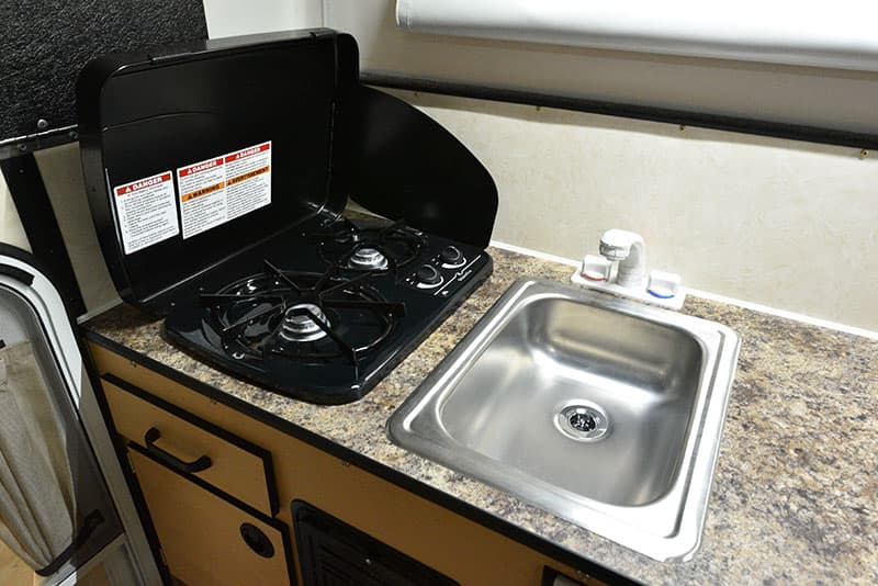 Four Wheel Hawk Kitchen Sink and Stove