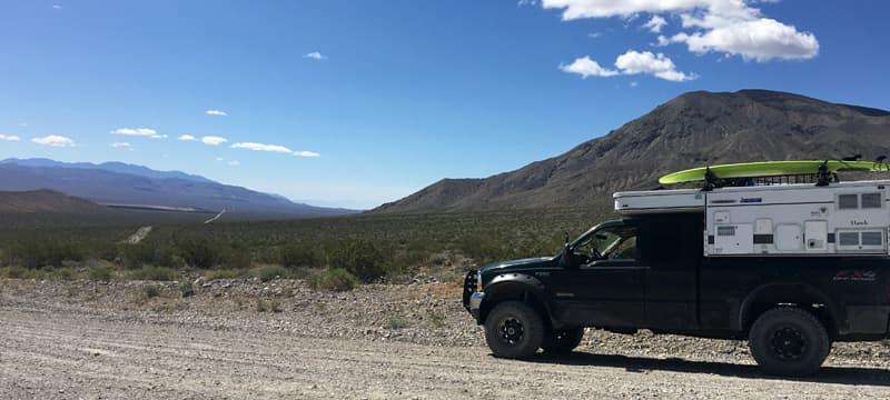 Four wheel drive Death Valley