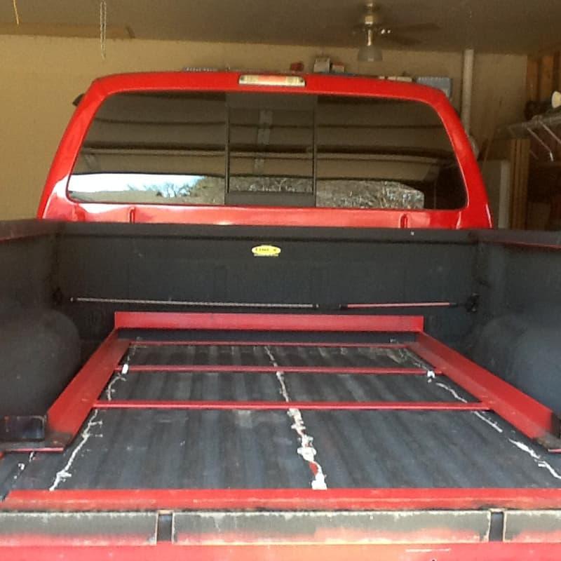 Frame Under Camper in bed of truck