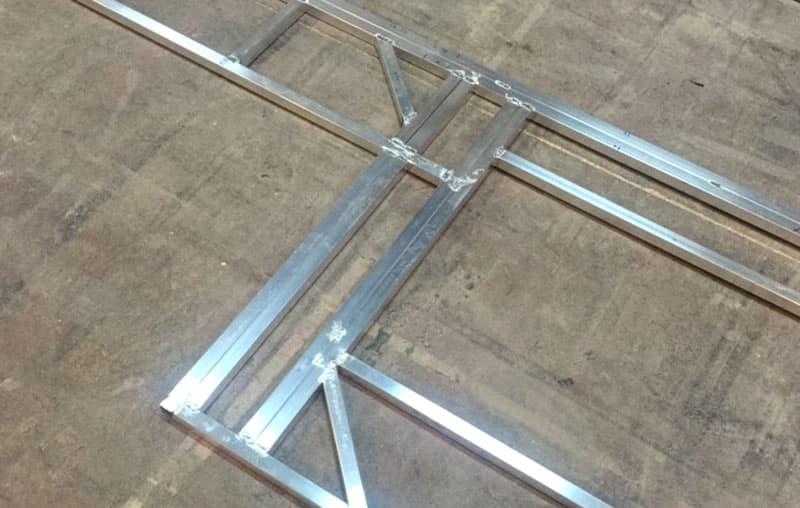 Framing welding Phoenix Campers