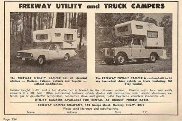 Freeway Camper Advertisement, submitted by Robert Ryan