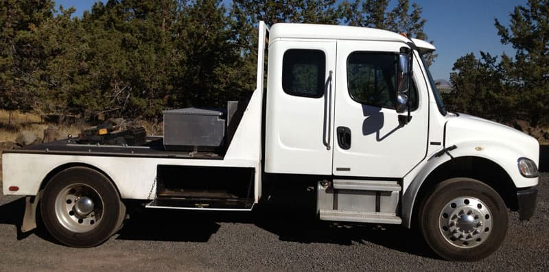 Freightliner turned into flatbed pickup truck