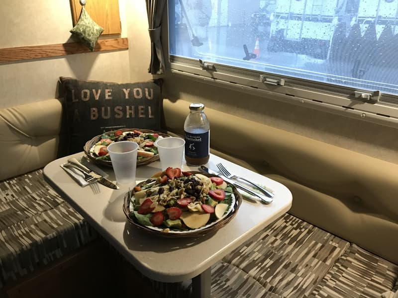 Fresh Local Produce And Beans Make A Healthy Truck Camper Meal