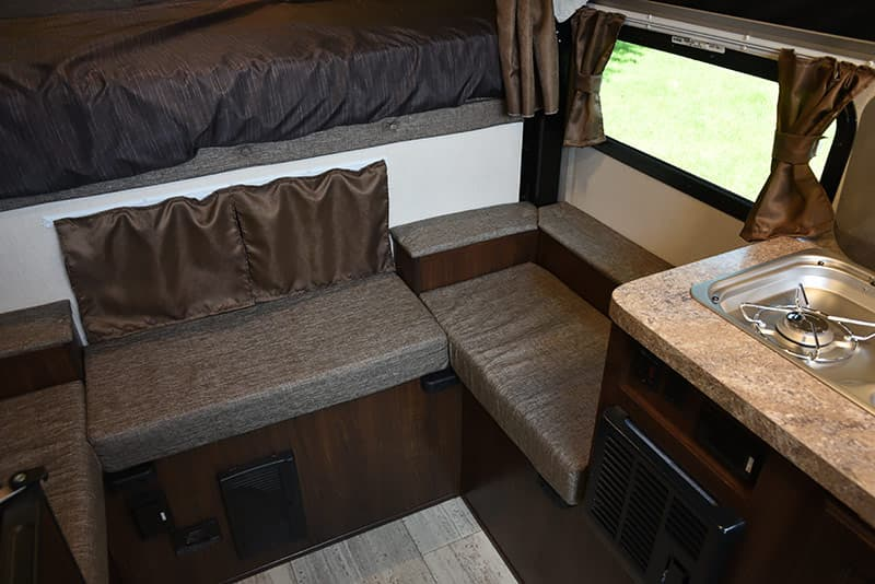Front dinette area in the Palomino SS-500