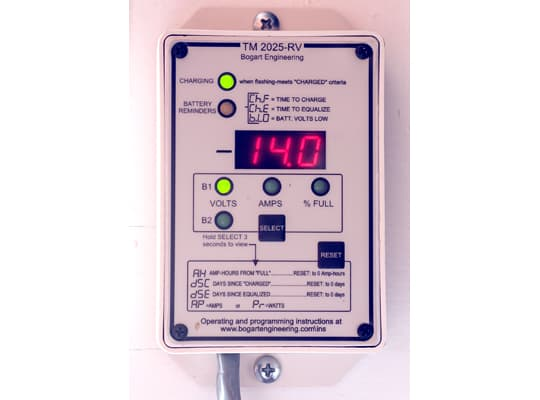 Rv Battery Monitoring Display : Rv solar systems charged and challenged