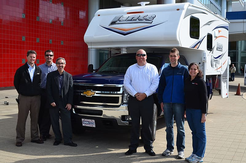 GM marketing team with Truck Camper Magazine