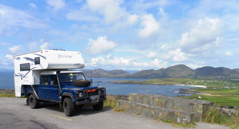 Galway Peninsula with Landrover Defender truck camper