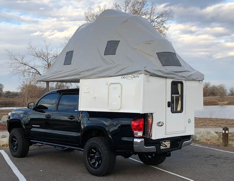2018 Phoenix Geo-Den Flip - Caboverless Tent Truck Camper