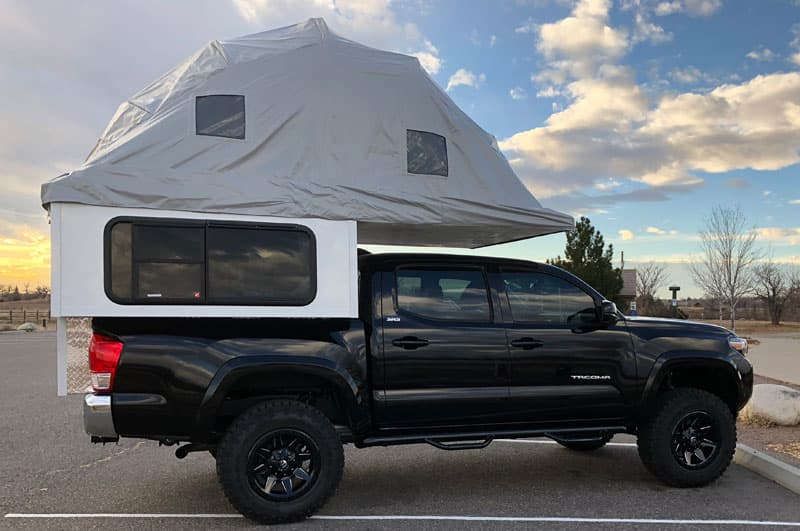 Geo Den Flip Tent Passenger Side