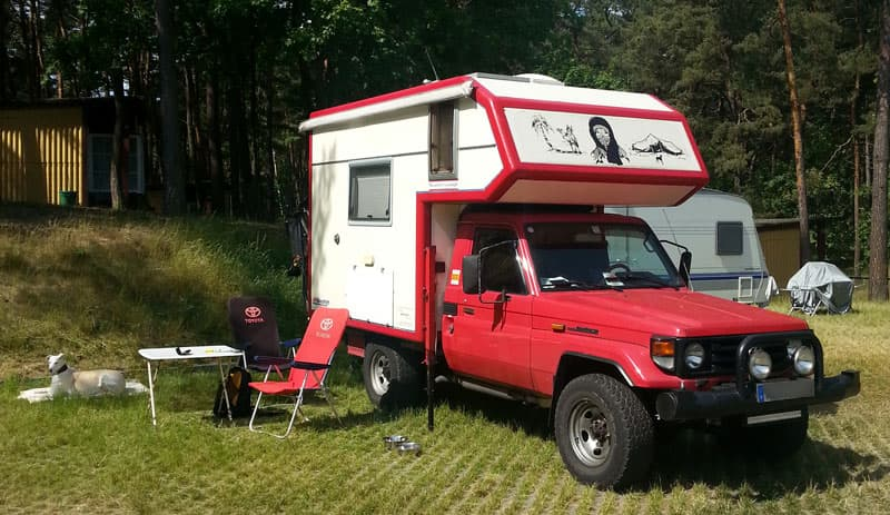 Germany special made truck camper