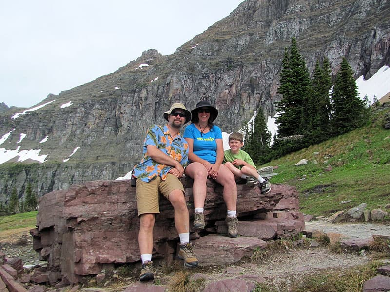 Glacier National Park Bain family