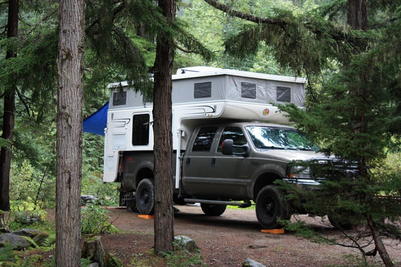 Glacier National Park camping with Hallmark Camper
