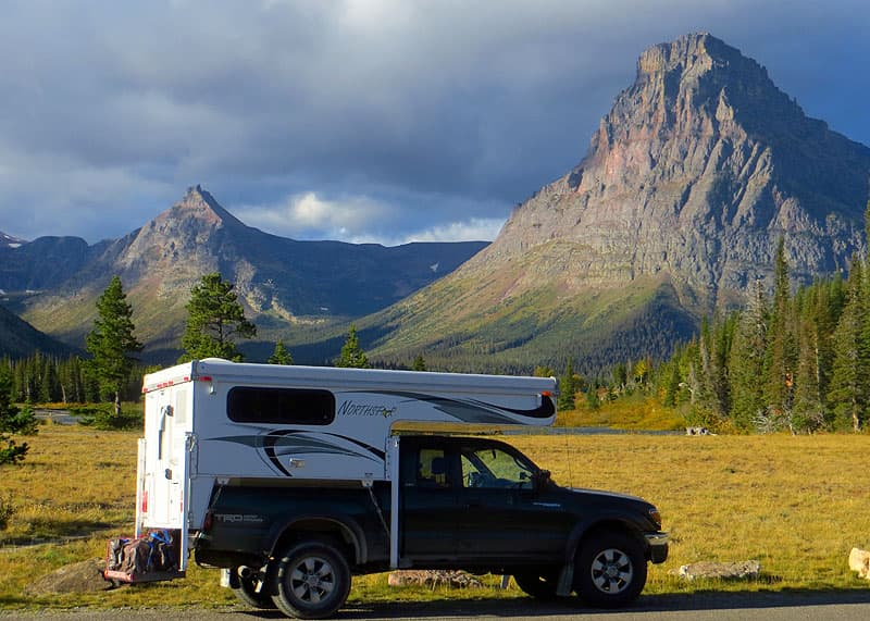 Northstar truck camper in Glacier National Park