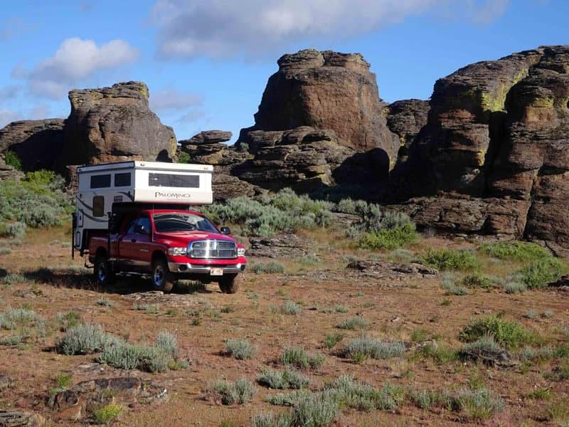 Camping in Gooding City of Rocks, Idaho