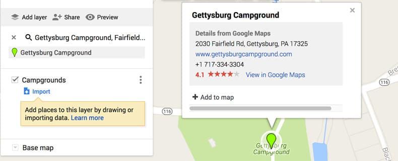 Add to Map Gettysburg Campground