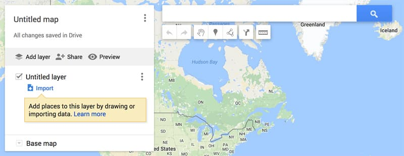 Untitled layer in Google Maps