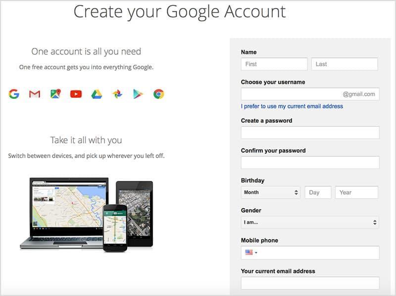 Google Sign-Up