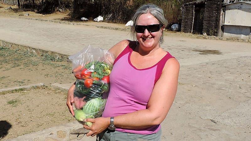 Rhonda on market day