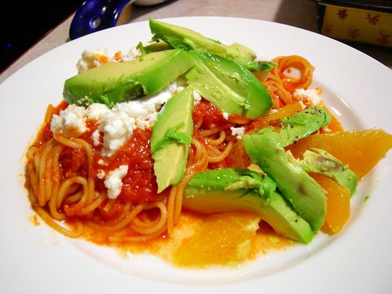 Mexican Spaghetti made in a truck camper