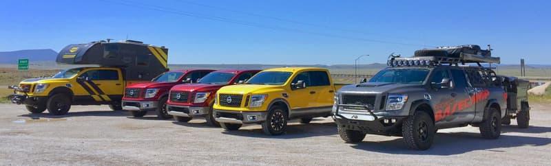 Grand Canyon, Nissan truck press drive
