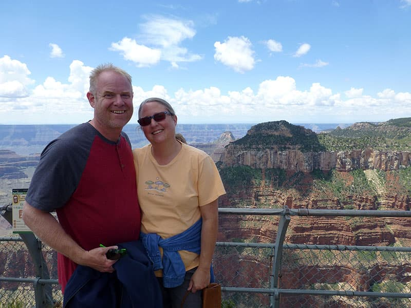 John and Diane at the North Rim, Grand Canyon