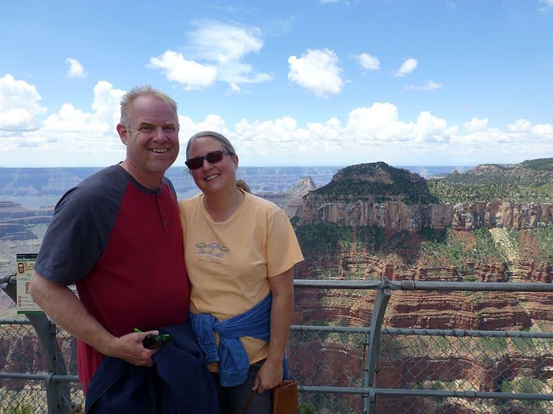 John and Diane at the North Rim, Grand Canyon