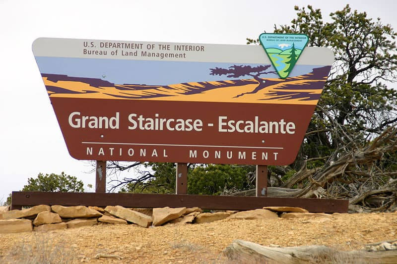 Grand Staircase Escalante Sign