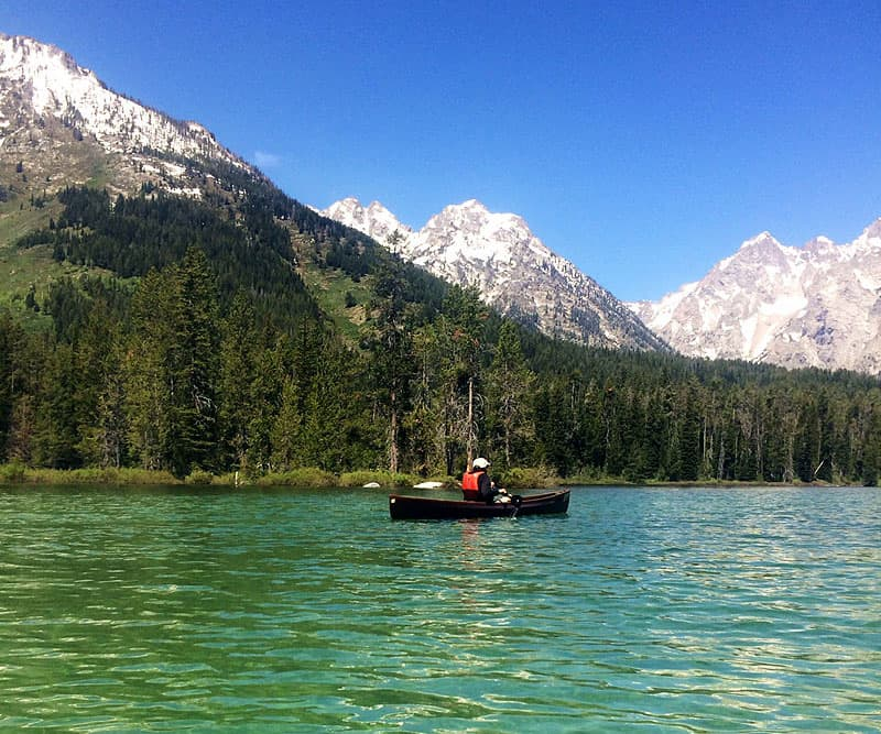 Grand Teton national park, lake and mountains