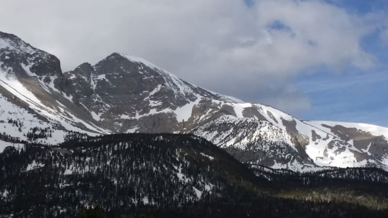 Great Basin National Park Snowy Mountains